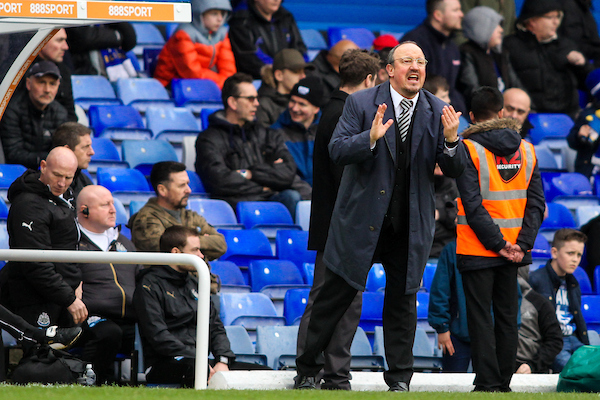 Newcastle United manager Rafa Benitez (right) pleads to his players during the Sky Bet Championship match at St Andrews, Birmingham Picture by Andy Kearns/Focus Images Ltd 0781 864 4264 18/03/2017