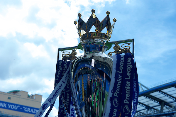 The Premier League Trophy before the Premier League match at Stamford Bridge, London Picture by Alan Stanford/Focus Images Ltd +44 7915 056117 21/05/2017