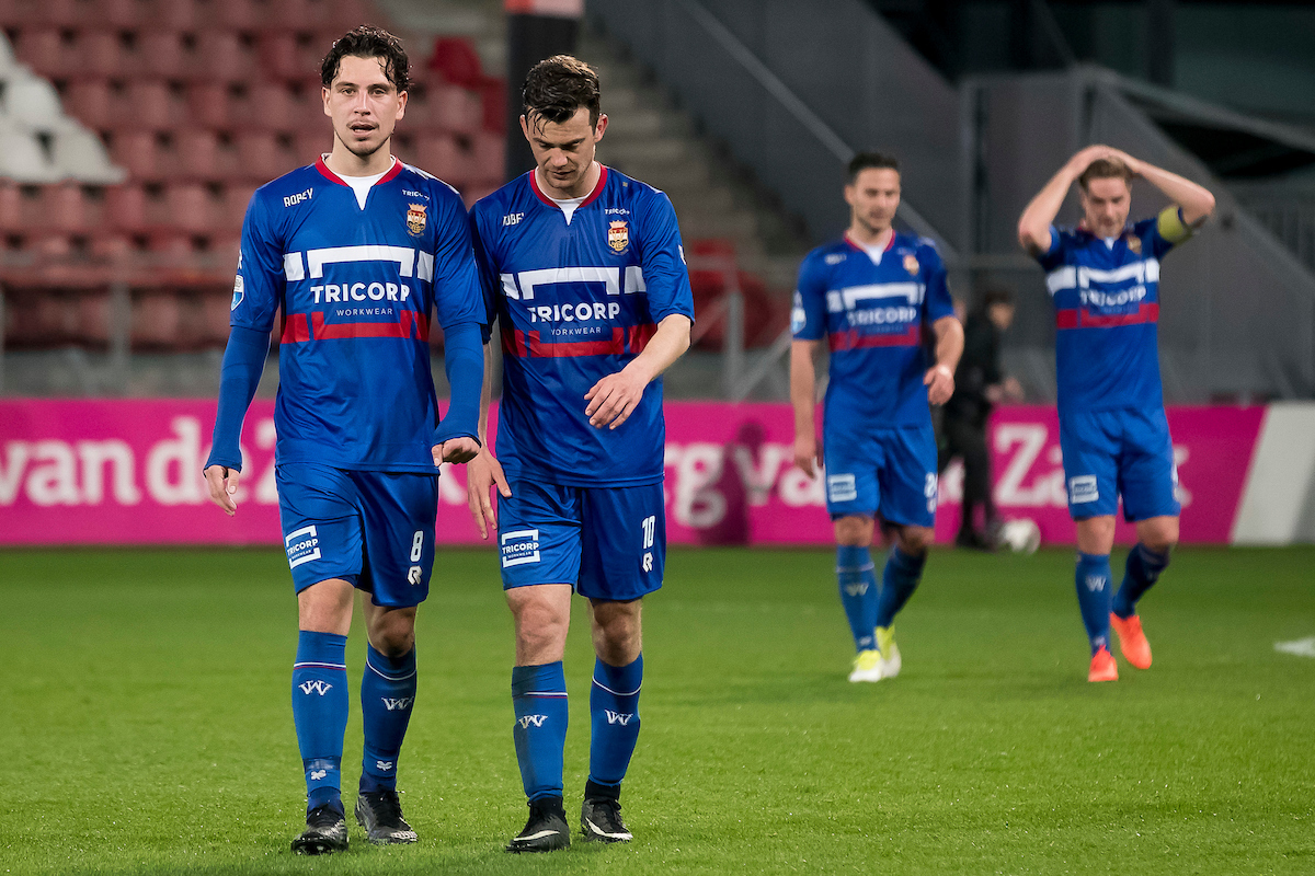 Thom Haye of Willem II (L), Erik Falkenburg of Willem II (2L), Guus Joppen of Willem II (2R), Jordens Peters of Willem II (R) after the Dutch Eredivisie match at Stadion Galgenwaard, Utrecht Picture by Joep Joseph Leenen/Focus Images Ltd +316 5261929 01/04/2017 ***NETHERLANDS OUT***
