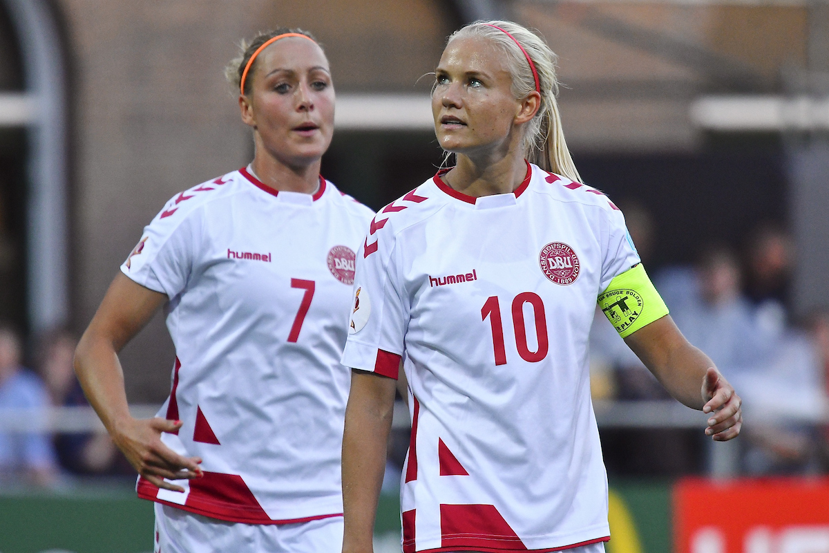 Pernille Harder of Denmark (right) during the UEFA Women's Euros 2017 match at Sparta Stadion Het Kasteel, Rotterdam Picture by Kristian Kane/Focus Images Ltd +44 7814 482222 20/07/2017