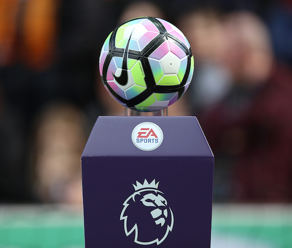 The official Premier League match ball before the Premier League match at the Bet 365 Stadium, Stoke-on-Trent Picture by James Wilson/Focus Images Ltd 07709 548263 15/04/2017