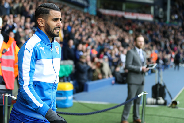 Riyad Mahrez of Leicester City during the Premier League match at The Hawthorns, West Bromwich Picture by Andy Kearns/Focus Images Ltd 0781 864 4264 29/04/2017