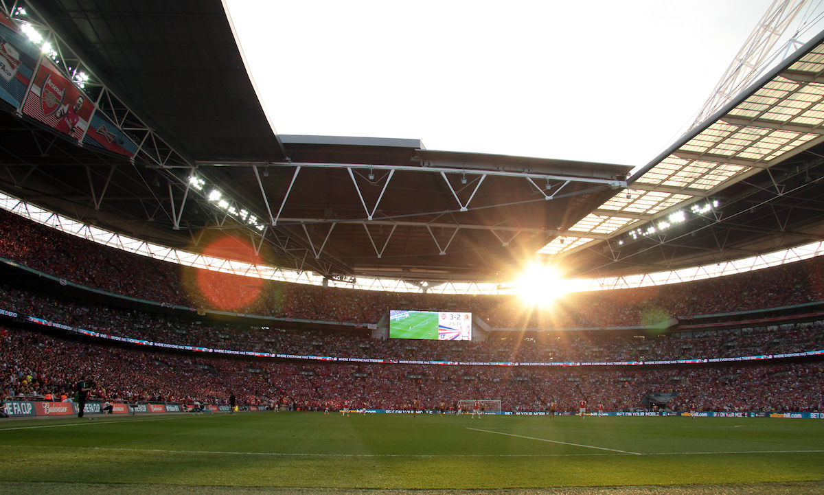 General view of the stadium during the The FA Cup Final match at Wembley Stadium, London Picture by Richard Gould/Focus Images Ltd +44 7855 403186 17/05/2014