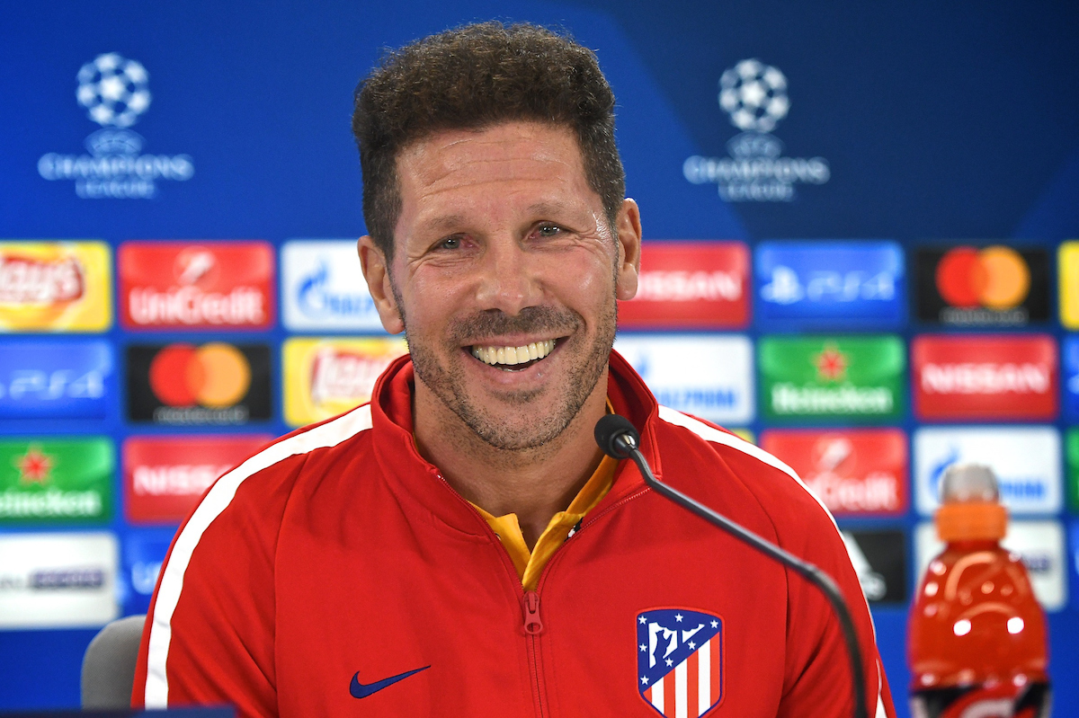 Atletico Madrid manager Diego Simeone during the  Atletico Madrid press conference at the Wanda Metropolitano Stadium, Madrid Picture by Kristian Kane/Focus Images Ltd +44 7814 482222 26/09/2017