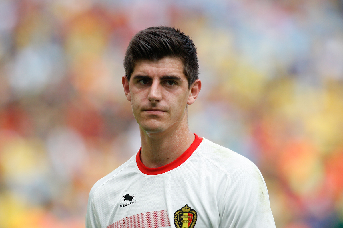 Thibaut Courtois of Belgium looks on during the 2014 FIFA World Cup match at Maracana Stadium, Rio de Janeiro, Brazil. Picture by Andrew Tobin/Focus Images Ltd +44 7710 761829 22/06/2014