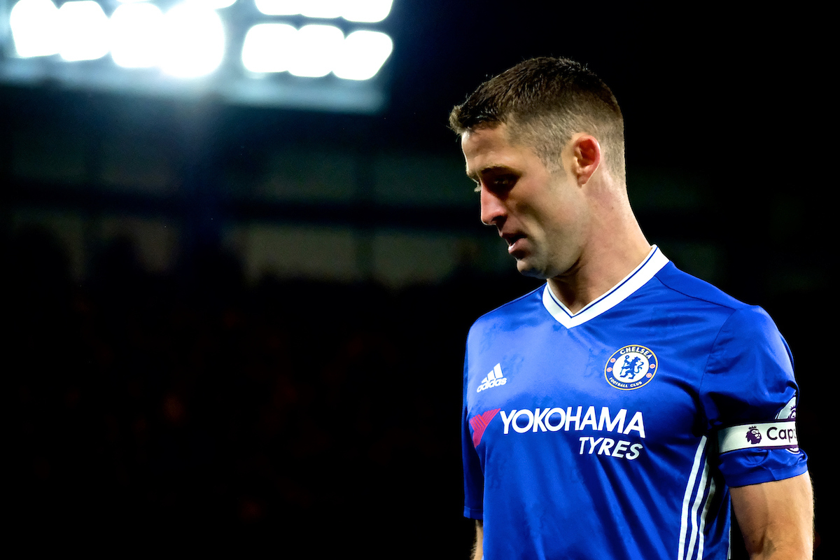 Gary Cahill of Chelsea during the Premier League match at Stamford Bridge, London Picture by Kristian Kane/Focus Images Ltd +44 7814 482222 25/04/2017