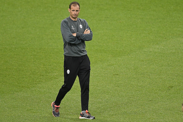 Juventus manager Massimiliano Allegri during the Juventus training session at the Principality Stadium, Cardiff Picture by Kristian Kane/Focus Images Ltd +44 7814 482222 02/06/2017