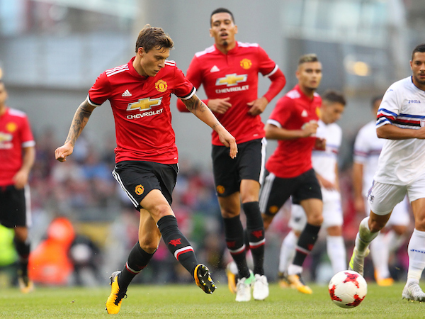 Victor Lindelof of Manchester United during the Pre-season Friendly match at the Aviva Stadium, Dublin Picture by Yannis Halas/Focus Images Ltd +353 8725 82019 02/08/2017
