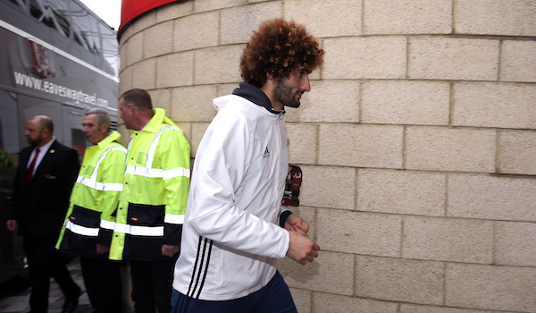 Marouane Fellaini of Manchester United arrives prior to the Premier League match at the Riverside Stadium, Middlesbrough Picture by Christopher Booth/Focus Images Ltd 07711958291 19/03/2017