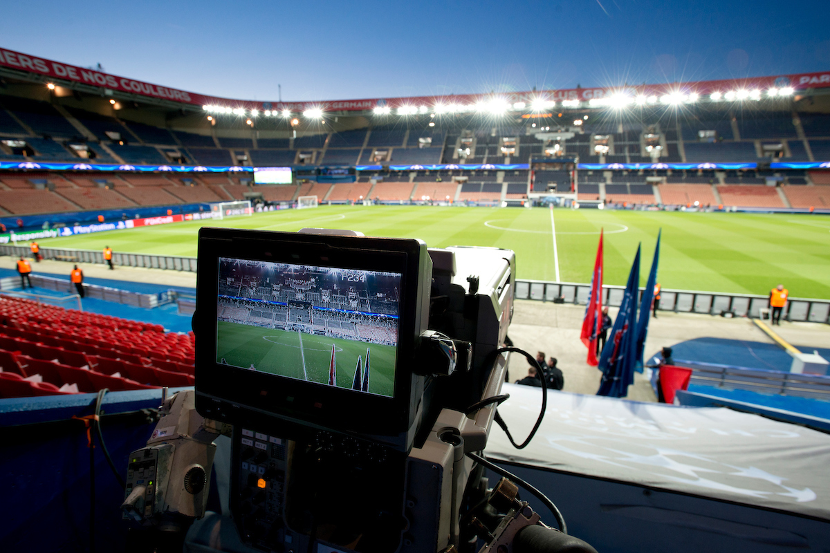 Stadium preparations before during the UEFA Champions League match at Parc des Princes, Paris Picture by Russell Hart/Focus Images Ltd 07791 688 420 16/02/2016