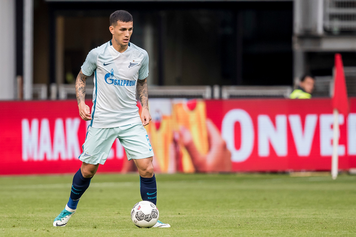 Leandro Paredes of FC Zenit St Petersburg during the UEFA Europa League Qualifying match at Stadion Galgenwaard, Utrecht Picture by Joep Joseph Leenen/Focus Images Ltd +316 5261929 16/08/2017