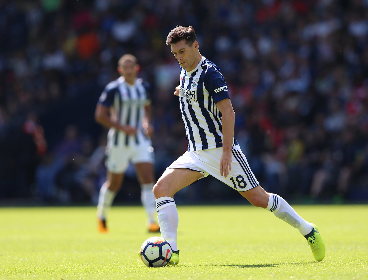 Gareth Barry of West Bromwich Albion during the Premier League match at The Hawthorns, West Bromwich Picture by James Wilson/Focus Images Ltd 07522 978714?? 27/08/2017