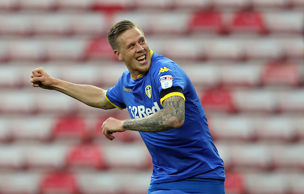 Pontus Jansson of Leeds United celebrates victory after the Sky Bet Championship match at the Stadium Of Light, Sunderland Picture by Simon Moore/Focus Images Ltd 07807 671782 19/08/2017