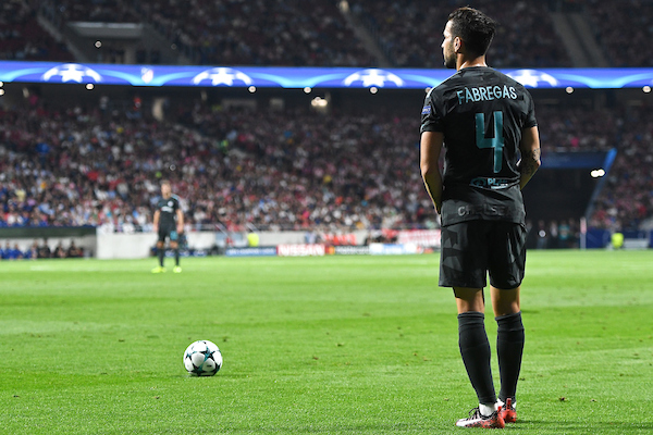 Cesc Fàbregas of Chelsea during the UEFA Champions League match at the Wanda Metropolitano Stadium, Madrid Picture by Kristian Kane/Focus Images Ltd +44 7814 482222 27/09/2017