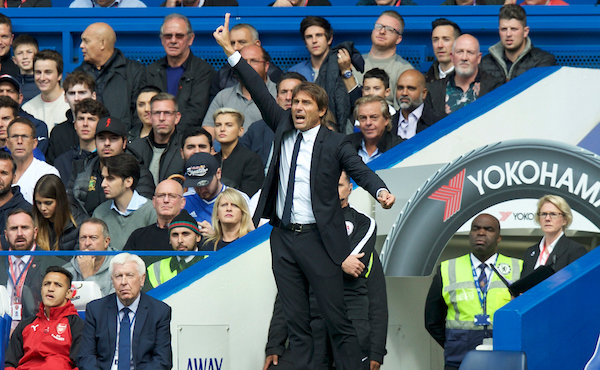 Manager Antonio Conte of Chelsea during the Premier League match at Stamford Bridge, London Picture by Alan Stanford/Focus Images Ltd +44 7915 056117 17/09/2017