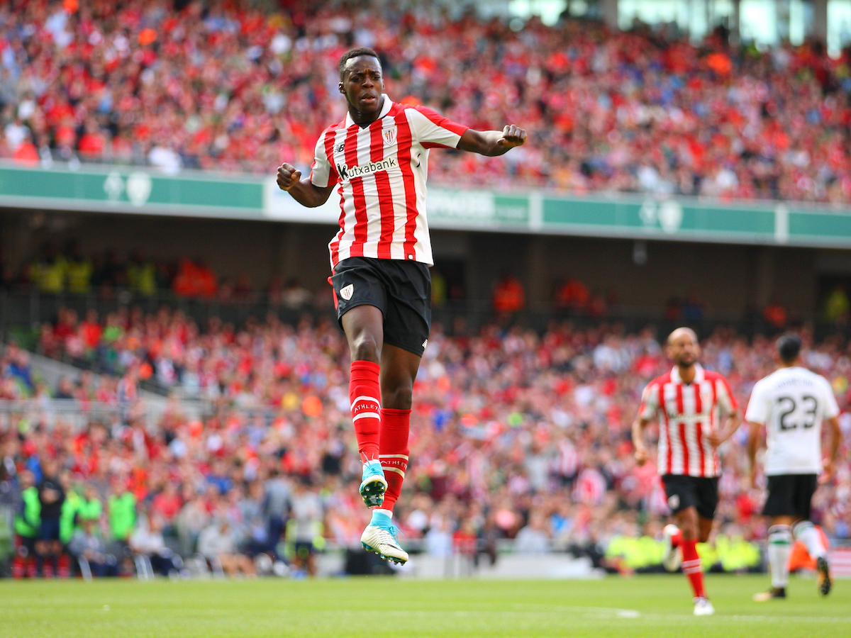 Inaki Williams of Athletic Bilbao celebrates scoring a goal  during the Pre-season Friendly match at the Aviva Stadium, Dublin Picture by Yannis Halas/Focus Images Ltd +353 8725 82019 05/08/2017