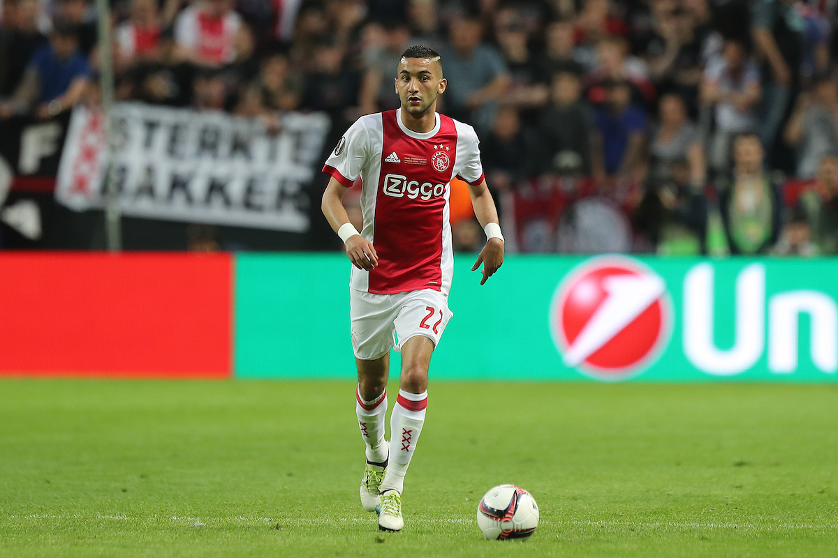 Hakim Ziyech of Ajax in action during the UEFA Europa League match at Friends Arena, Stockholm Picture by Paul Chesterton/Focus Images Ltd +44 7904 640267 24/05/2017