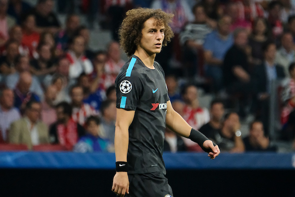 David Luiz of Chelsea during the UEFA Champions League match at the Wanda Metropolitano Stadium, Madrid Picture by Kristian Kane/Focus Images Ltd +44 7814 482222 27/09/2017