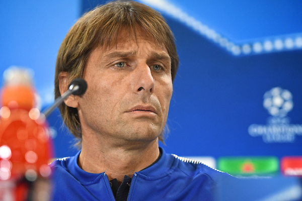 Chelsea manager Antonio Conte during the Chelsea press conference at the Wanda Metropolitano Stadium, Madrid Picture by Kristian Kane/Focus Images Ltd +44 7814 482222 26/09/2017