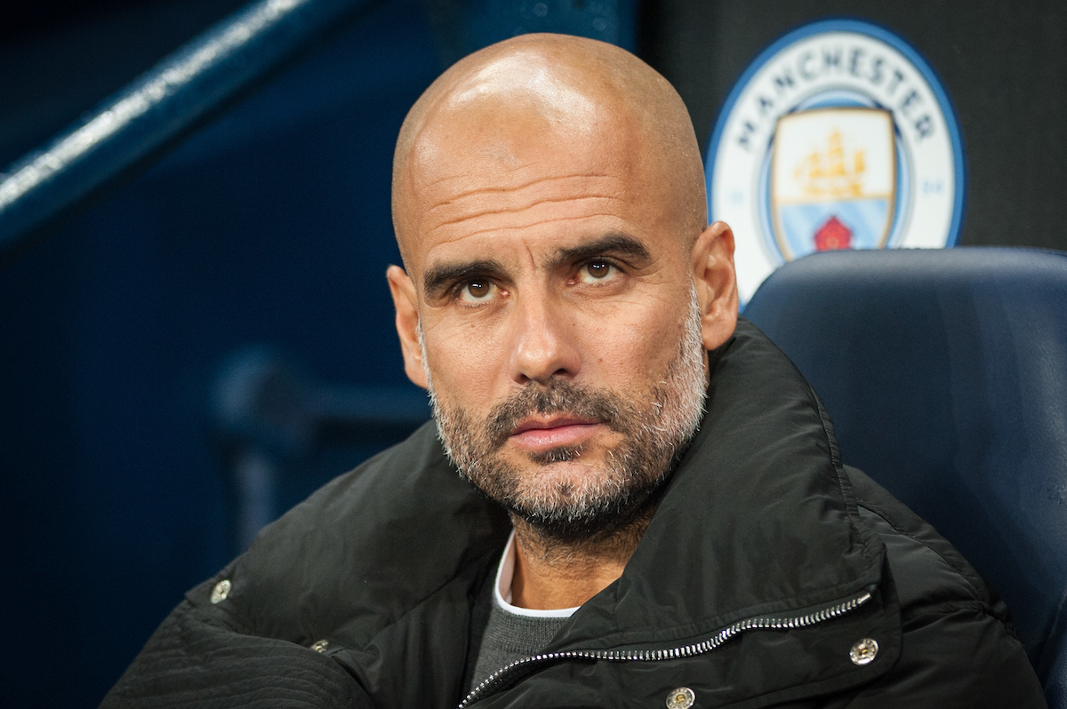 Manchester City manager Pep Guardiola during the UEFA Champions League match at the Etihad Stadium, Manchester Picture by Matt Wilkinson/Focus Images Ltd 07814 960751 21/11/2017