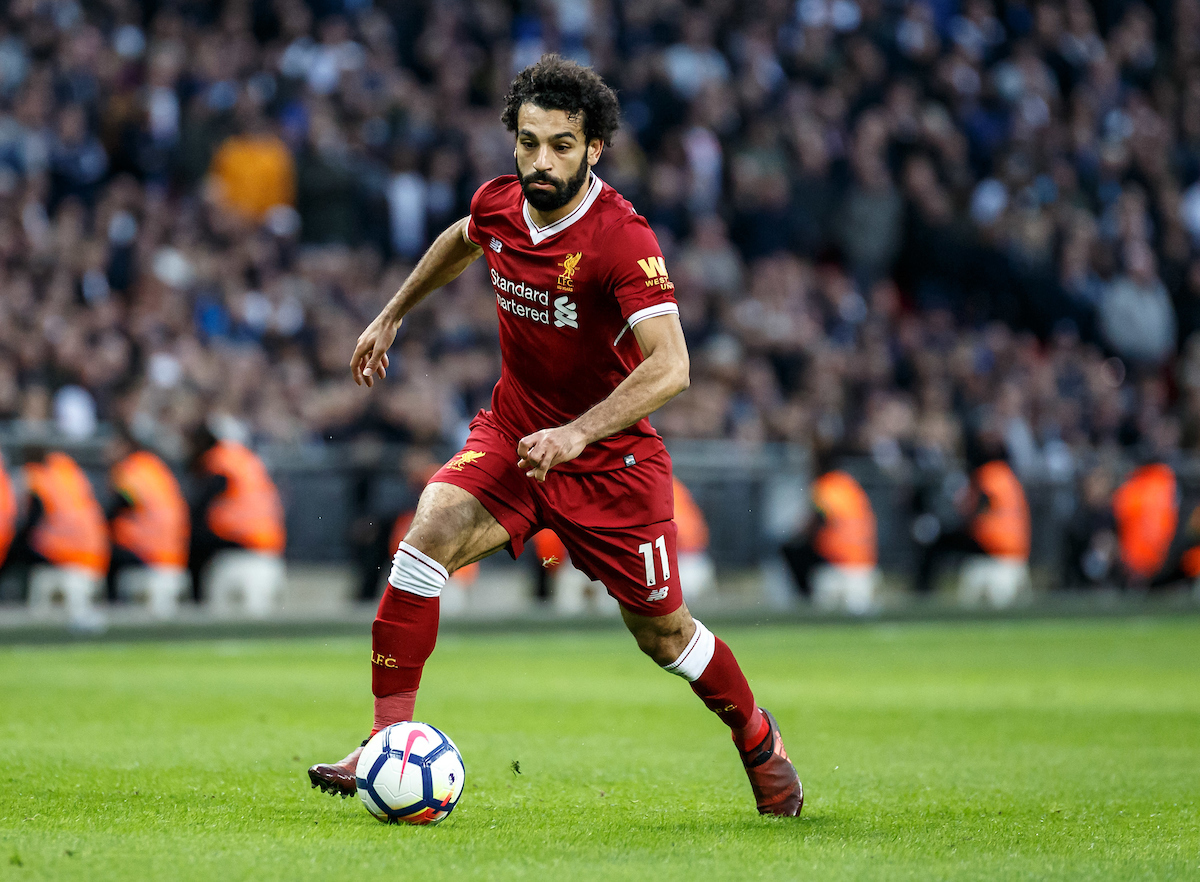 Mohamed Salah of Liverpool during the Premier League match at Wembley Stadium, London Picture by Liam McAvoy/Focus Images Ltd 07413 543156 22/10/2017