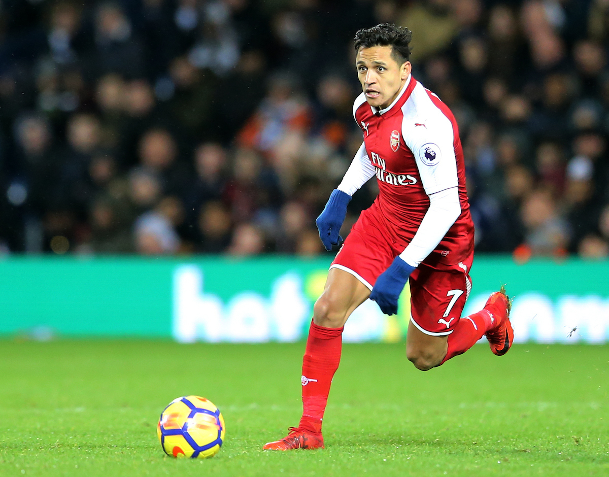 Alexis Sanchez of Arsenal during the Premier League match at The Hawthorns, West Bromwich Picture by Simon Moore/Focus Images Ltd 07807 671782 31/12/2017