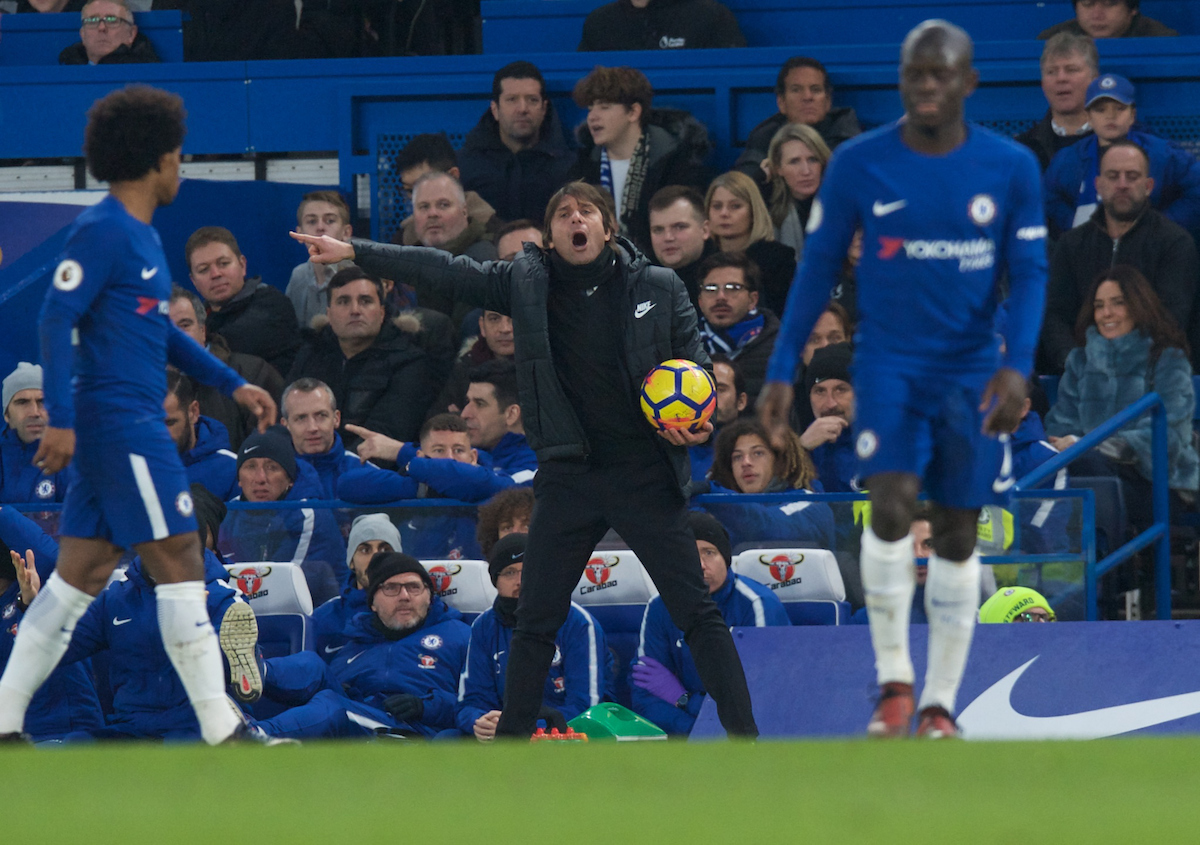 Antonio Conte Manager of Chelsea during the Premier League match at Stamford Bridge, London Picture by Alan Stanford/Focus Images Ltd +44 7915 056117 13/01/2018
