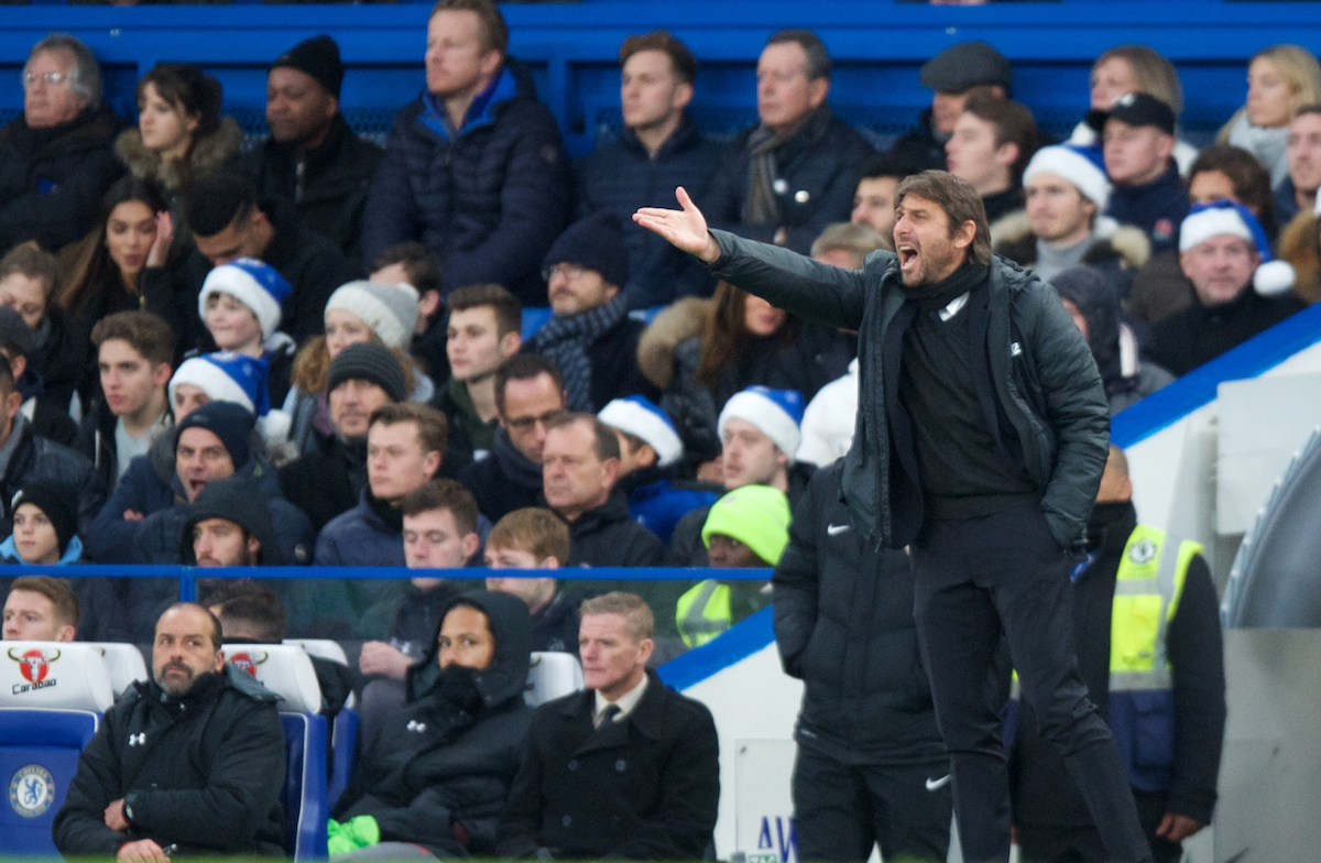 Antonio Conte Manager of Chelsea during the Premier League match at Stamford Bridge, London Picture by Alan Stanford/Focus Images Ltd +44 7915 056117 16/12/2017