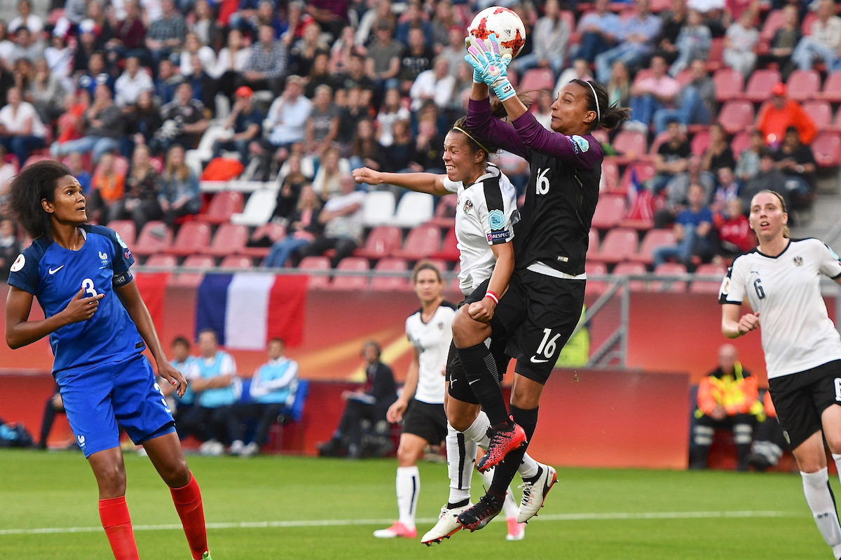 France goalkeeper Sarah Bouhaddi claims the ball during the UEFA Women's Euros 2017 match at Stadion Galgenwaard, Utrecht Picture by Kristian Kane/Focus Images Ltd +44 7814 482222 22/07/2017