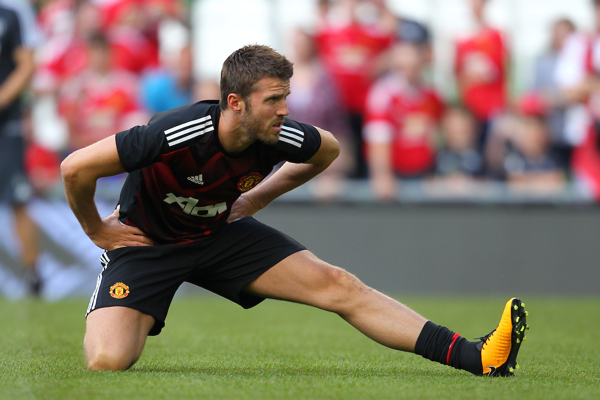 Michael Carrick of Manchester United during the Pre-season Friendly match at the Aviva Stadium, Dublin Picture by Yannis Halas/Focus Images Ltd +353 8725 82019 02/08/2017