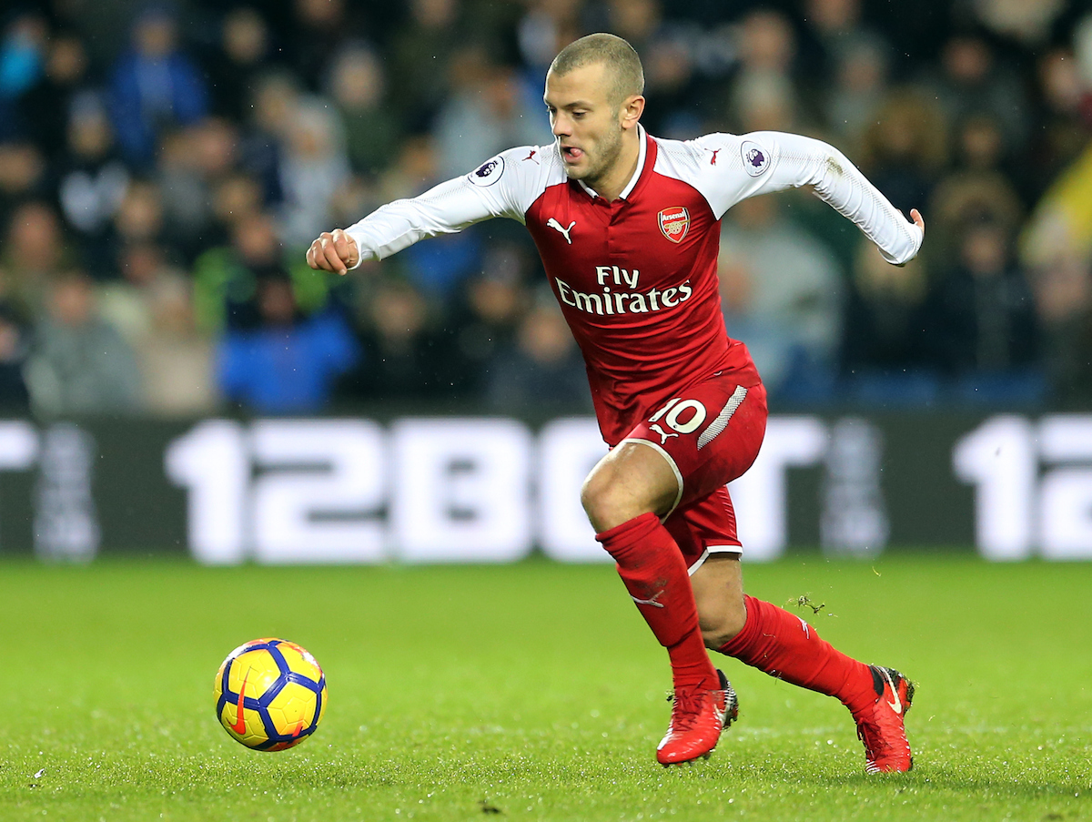 Jack Wilshere of Arsenal during the Premier League match at The Hawthorns, West Bromwich Picture by Simon Moore/Focus Images Ltd 07807 671782 31/12/2017
