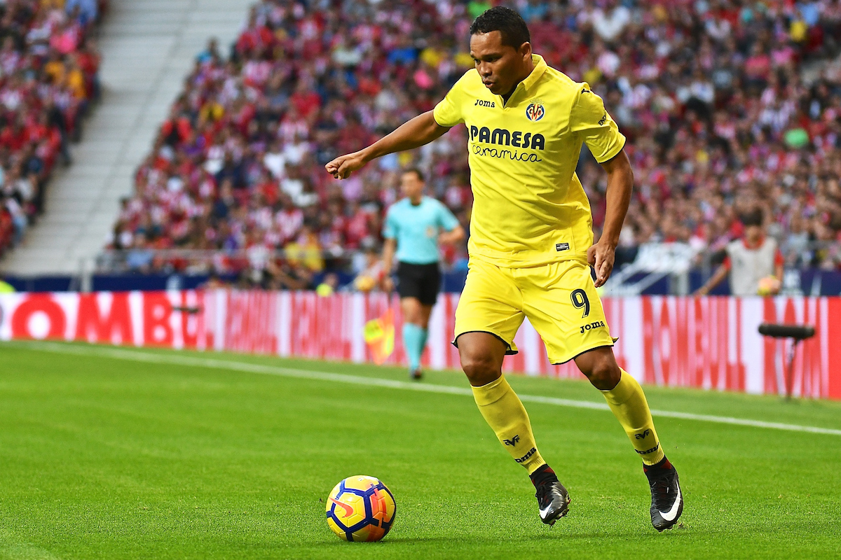 Carlos Bacca of Villareal during the La Liga match at the Wanda Metropolitano Stadium, Madrid Picture by Kristian Kane/Focus Images Ltd +44 7814 482222 28/10/2017