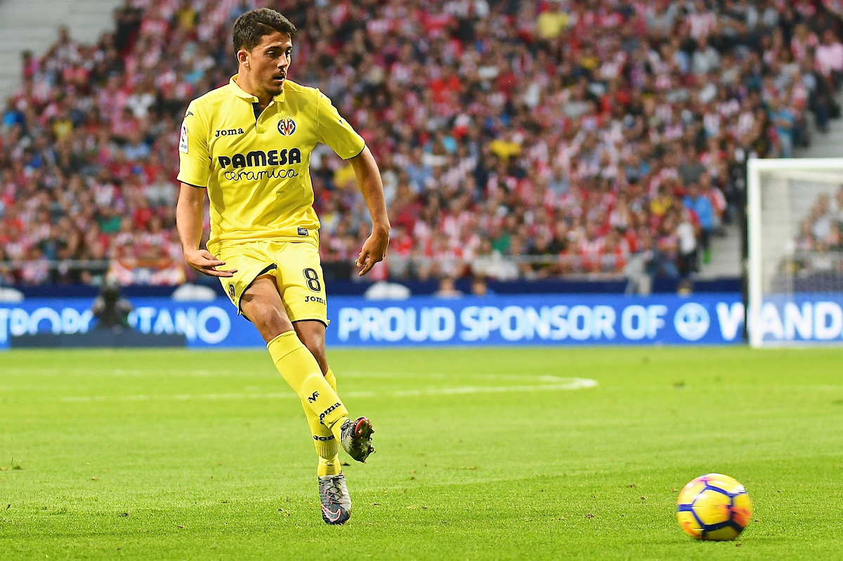 Pablo Fornals of Villareal during the La Liga match at the Wanda Metropolitano Stadium, Madrid Picture by Kristian Kane/Focus Images Ltd +44 7814 482222 28/10/2017