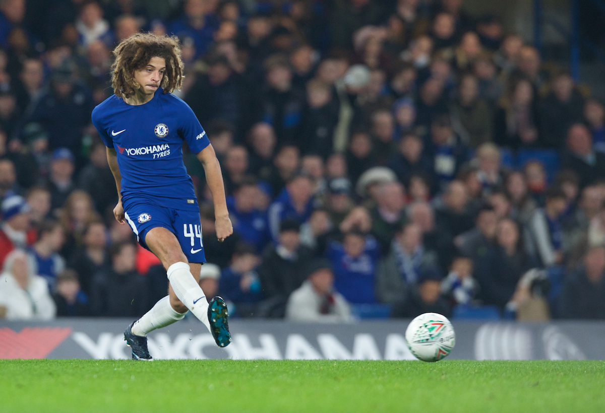 Ethan Ampadu of Chelsea during the Carabao Cup Quarter Final match at Stamford Bridge, London Picture by Alan Stanford/Focus Images Ltd +44 7915 056117 20/12/2017