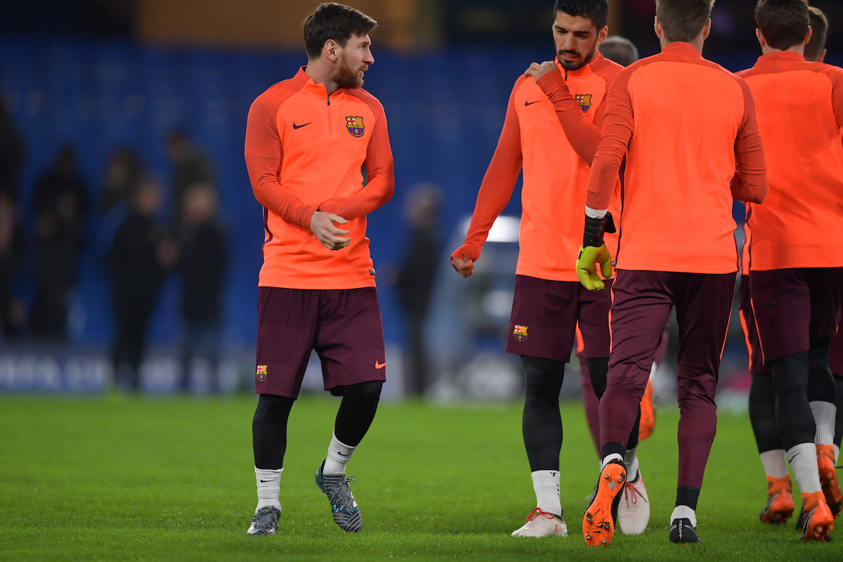 Lionel Messi during the FC Barcelona Training Session at Stamford Bridge, London, UK. Picture by Simon Dael/Focus Images Ltd 07866 555979 19/02/2018