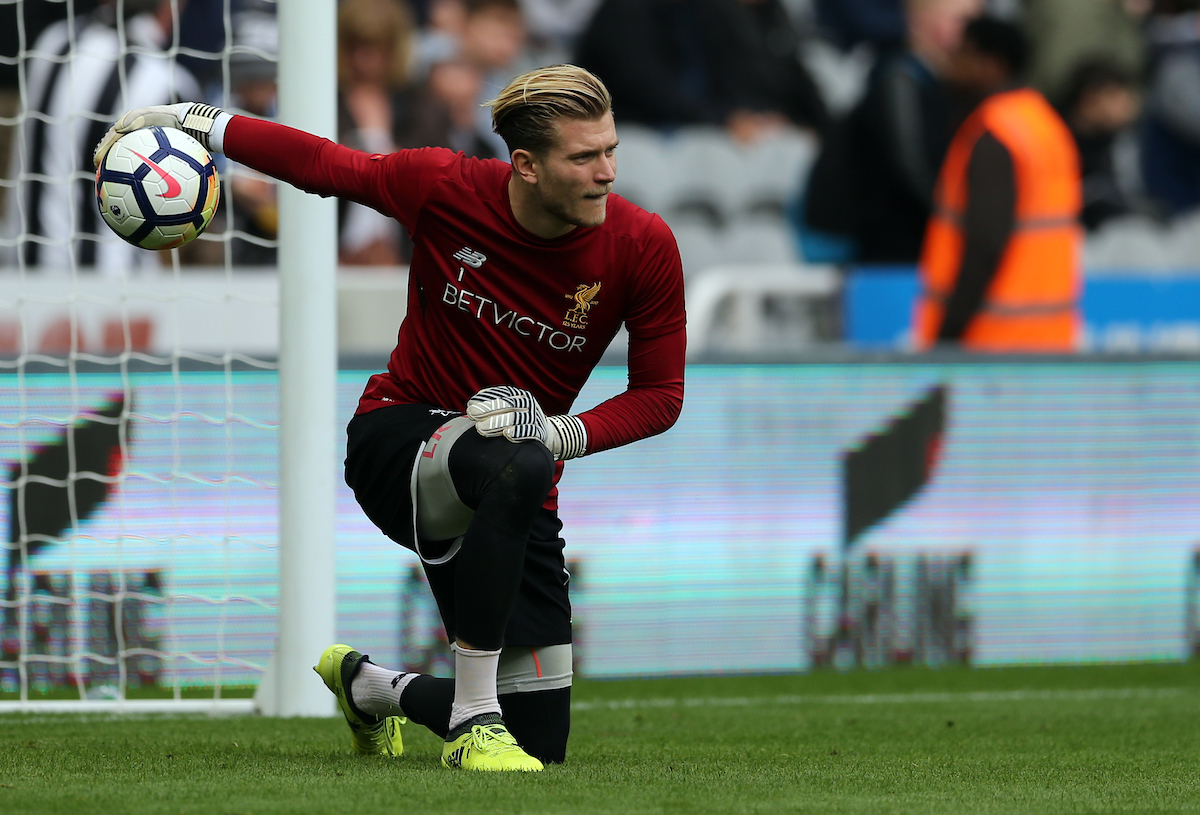 Loris Karius of Liverpool prior to the Premier League match at St. James's Park, Newcastle Picture by Simon Moore/Focus Images Ltd 07807 671782 01/10/2017
