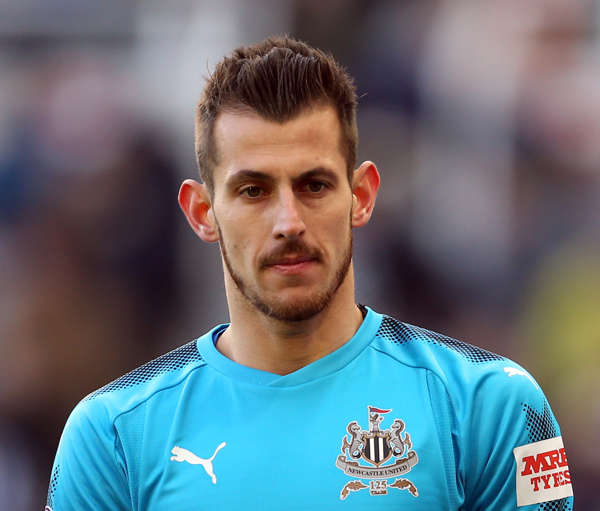 Martin Dubravka of Newcastle United during the Premier League match at St. James's Park, Newcastle Picture by Simon Moore/Focus Images Ltd 07807 671782 11/02/2018