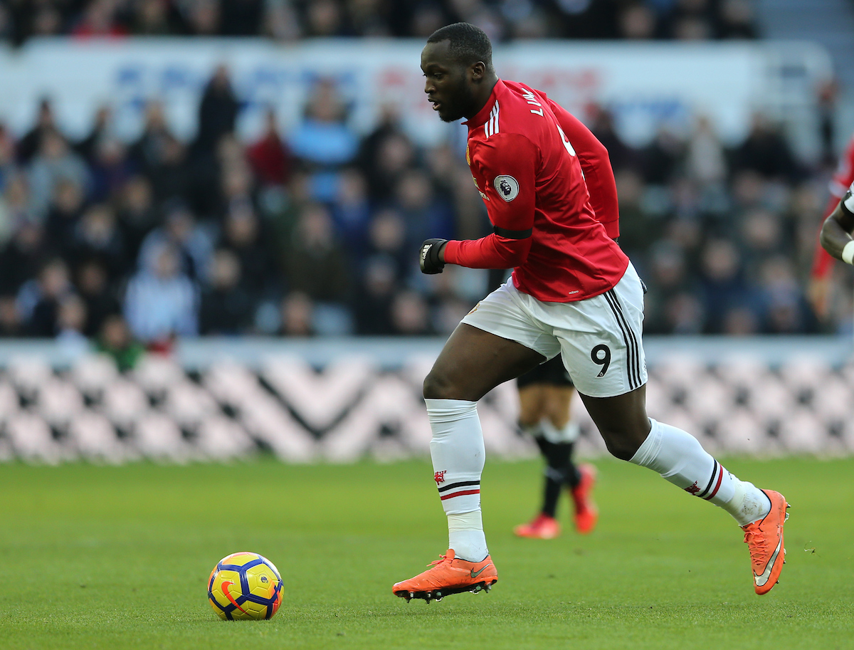 Romelu Lukaku of Manchester United during the Premier League match at St. James's Park, Newcastle Picture by Simon Moore/Focus Images Ltd 07807 671782 11/02/2018