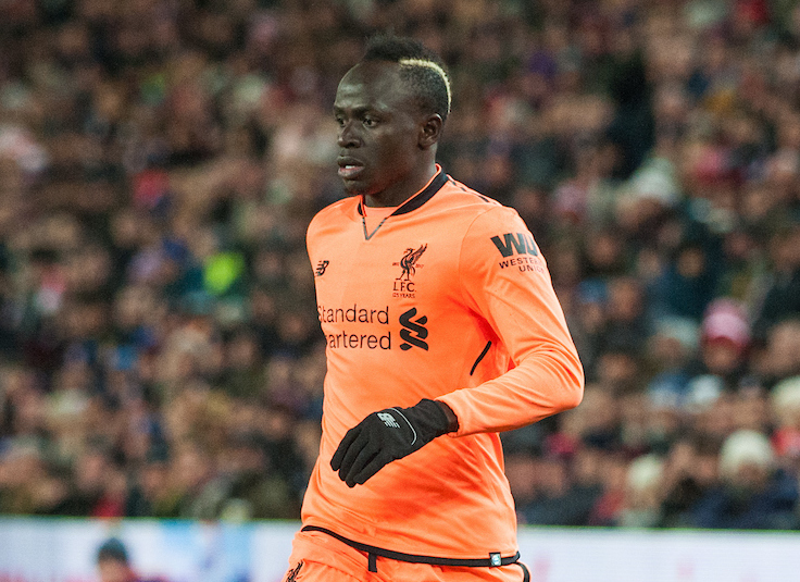 Sadio ManÈ of Liverpool looks for options during the Premier League match at the Bet 365 Stadium, Stoke-on-Trent Picture by Matt Wilkinson/Focus Images Ltd 07814 960751 29/11/2017