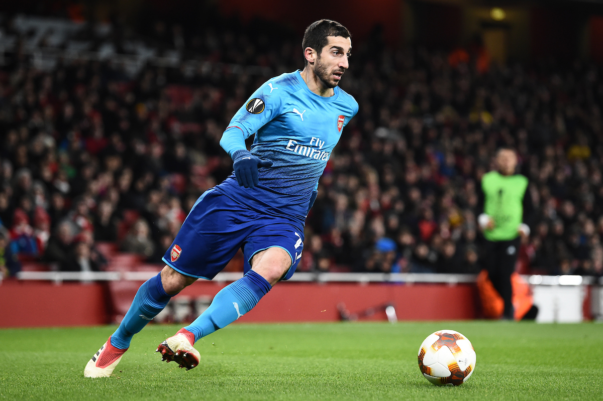 Henrikh MKhitaryan of Arsenal during the UEFA Europa League match at the Emirates Stadium, London Picture by Simon Dael/Focus Images Ltd 07866 555979 22/02/2018