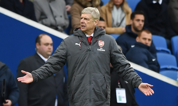 Arsène Wenger manager of Arsenal during the Premier League match at the American Express Community Stadium, Brighton and Hove Picture by Simon Dael/Focus Images Ltd 07866 555979 04/03/2018