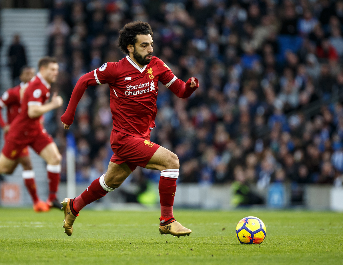 Mohamed Salah of Liverpool during the Premier League match at the American Express Community Stadium, Brighton and Hove Picture by Liam McAvoy/Focus Images Ltd 07413 543156 02/12/2017