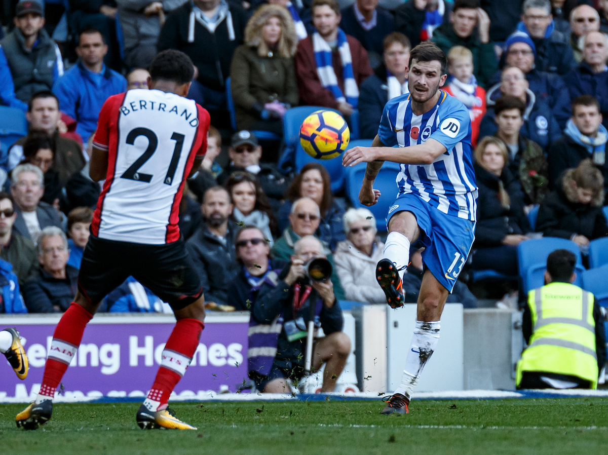 Pascal Gross of Brighton & Hove Albion during the Premier League match at the American Express Community Stadium, Brighton and Hove Picture by Liam McAvoy/Focus Images Ltd 07413 543156 29/10/2017