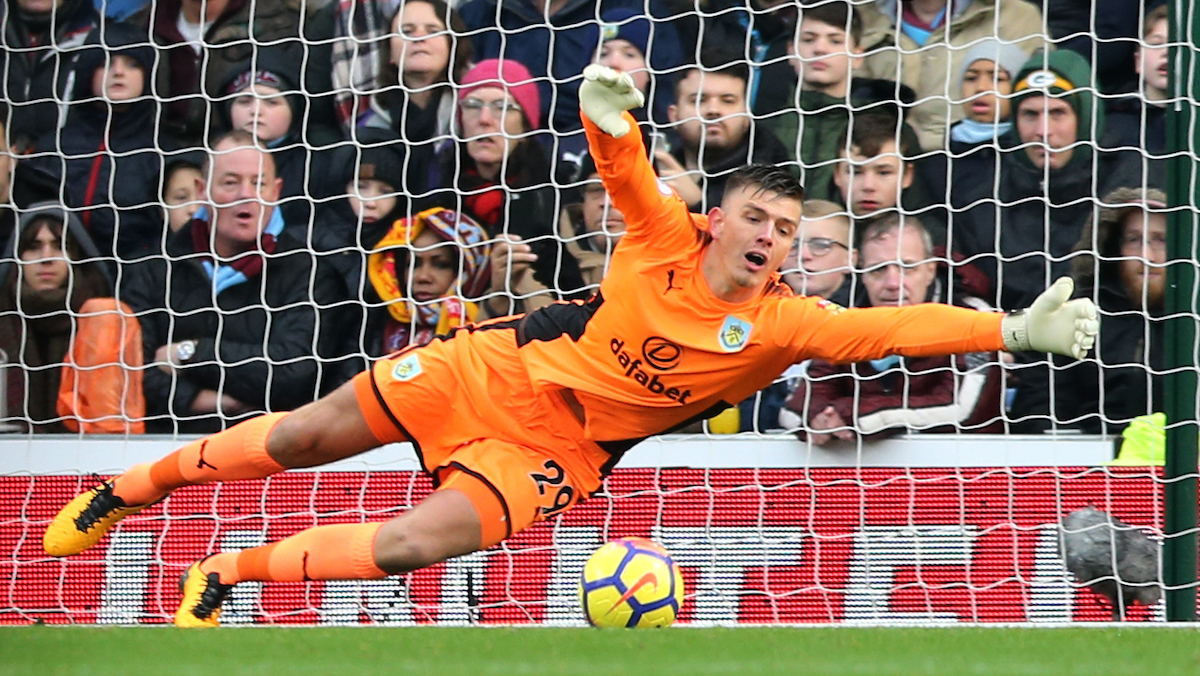 Nick Pope of Burnley during the Premier League match at Turf Moor, Burnley Picture by Simon Moore/Focus Images Ltd 07807 671782 26/11/2017