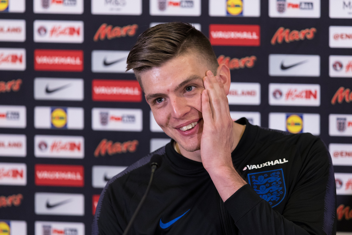 EMBARGOED UNTIL 10.30PM TUESDAY 20/03/18 Nick Pope answers questions from the press during the England media day at St Georges Park, Burton upon Trent Picture by James Wilson/Focus Images Ltd 07522 978714?? 20/03/2018