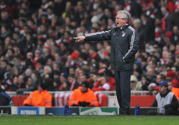 Picture by Daniel Hambury/Focus Images Ltd +44 7813 022858 19/02/2013 Jupp Heynckes, manager of FC Bayern Munich during the UEFA Champions League match at the Emirates Stadium, London.