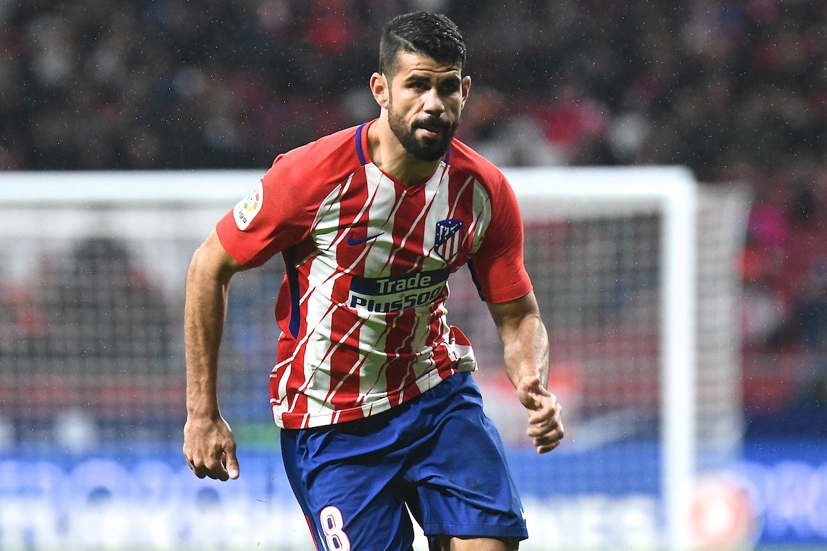 Diego Costa of Atletico Madrid during the La Liga match at the Wanda Metropolitano Stadium, Madrid Picture by Kristian Kane/Focus Images Ltd +44 7814 482222 04/02/2018