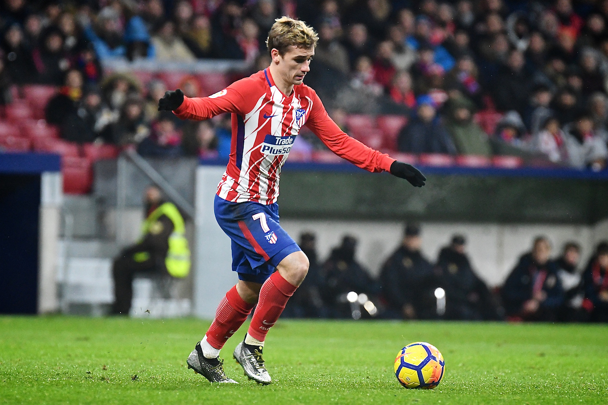 Antoine Griezmann of Atletico Madrid during the La Liga match at the Wanda Metropolitano Stadium, Madrid Picture by Kristian Kane/Focus Images Ltd +44 7814 482222 04/02/2018