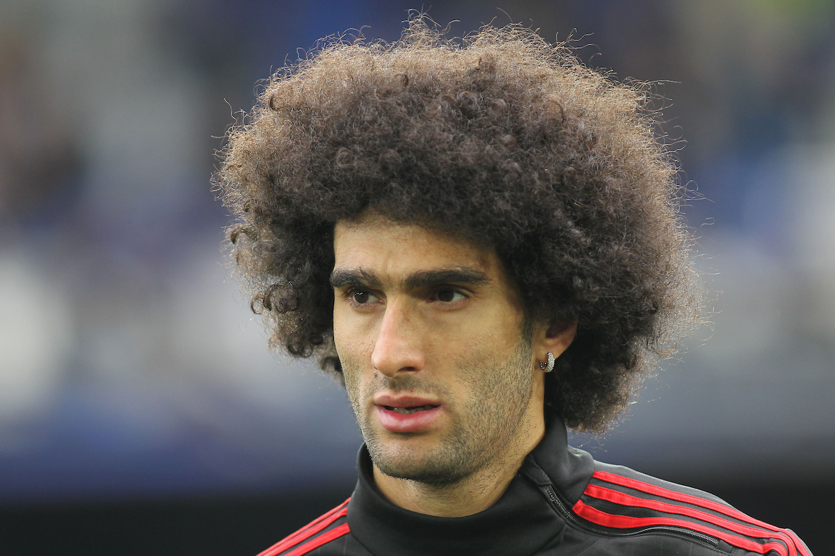 Marouane Fellaini of Manchester United prior to the Barclays Premier League match against Everton at Goodison Park, Liverpool. Picture by Michael Sedgwick/Focus Images Ltd +44 7900 363072 17/10/2015