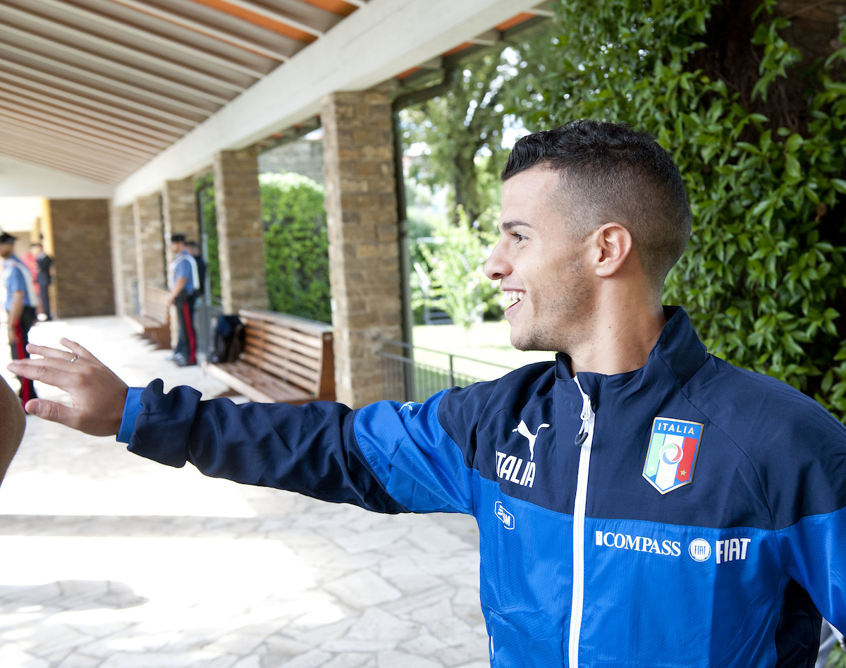 Sebastian Giovinco pictured during Italy training at Coverciano, Florence Picture by Stefano Gnech/Focus Images Ltd +39 333 1641678 01/09/2014